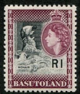 Basutoland SC# 82 (SG# 79) Queen Elizabeth II, 1r, MNH