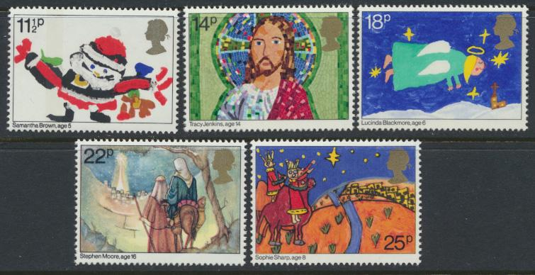 GB SG 1170 - 1174  SC# 960-964 Mint Never Hinged - Christmas 1981