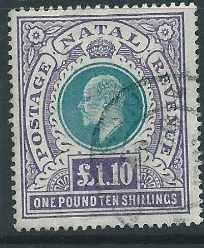 NATAL SG143 1902 £1.10  GREEN & VIOLET  FINE USED