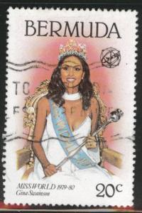 BERMUDA Scott 398 Used from 19800 Miss World set