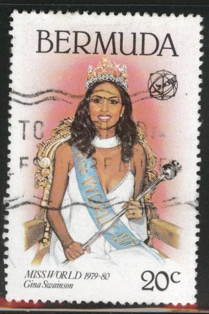 BERMUDA Scott 398 Used from 19800 Miss World set