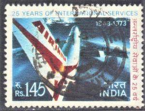 INDIA SCOTT# 582  AIR INDIA JET   USED 1973