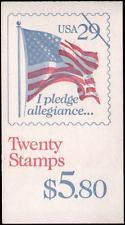 BK196 $5.80 2593a, 29c Pledge, Perf 10 (2) 1992