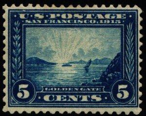 Scott #399 VF - Blue - Golden Gate - HR - OG - 1913