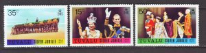 J22224 Jlstamps 1977 tuvalu mnh set #43-5 royality