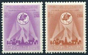 Thailand 450-451,MNH.Michel 466-467.International Trade Fair,1966.Temple of Dawn
