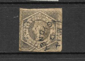 NEW SOUTH WALES 1854      6d   QV   FU    IMPERF   SG 96