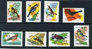 HUNGARY 1961 Sc#1426-1433 FAUNA BIRDS SET OF 8 STAMPS MNH
