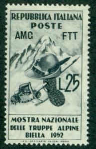Trieste #154  Mint  F-VF NH  Scott $3.25  Alpine Troops