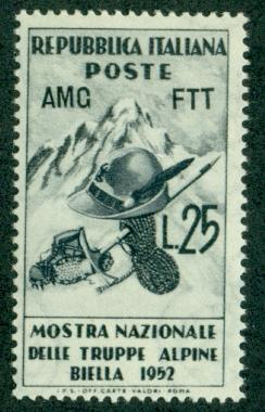 Trieste #154  Mint  F-VF NH  Scott $3.25  Alpine Troops