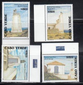Cape Verde, Sc 829-832 (1), MNH, 2004, Lighthouses