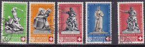 Switzerland 1940 Semi-Postal National Fete Complete with Redrawn (5) VF/Used/(o)