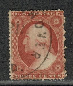 US Sc#25 Used/F, Plate #6-Rich Color!, Cv. $175