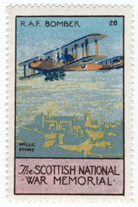 (I.B) Cinderella Collection : The Scottish War Memorial (RAF Bomber)
