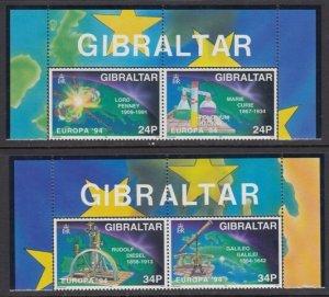 Gibraltar 653-6 Europa mnh
