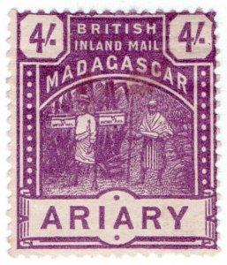 (I.B) Madagascar Postal : British Inland Mail 4/- (Ariary)