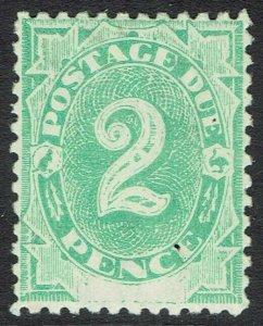 AUSTRALIA 1902 POSTAGE DUE BLANK BASE 2D MNH ** WMK UPRIGHT