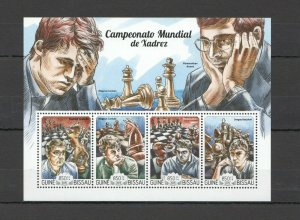 ST1010 2015 GUINEA-BISSAU SPORT CHESS KB MNH STAMPS