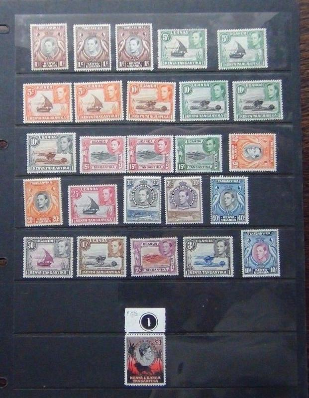KUT 1938 - 54 values to £1 MM