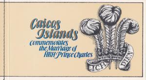 Caicos Islands # 12, Royal Wedding Complete Booklet, 1/2 Cat.