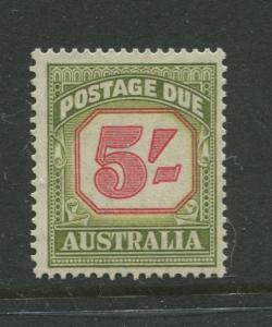 Australia - Scott J83 - Postage Due Issue -1953- Wmk 228 - MNH -Single 5/- stamp
