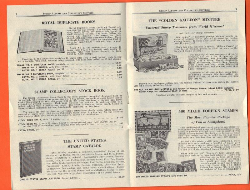 Vintage - 1960s Era - Mystic and 1962 Zenith Stamp Catalog & Supplies Booklets