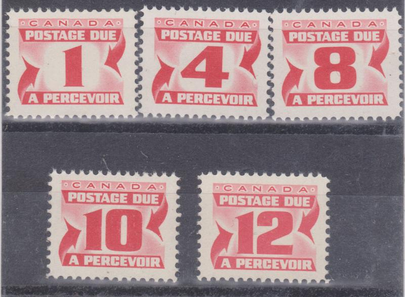 Canada - 1969 Centennial Postage Dues Small Size VF-NH