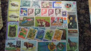 Multiple European Stamps