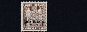 COOK ISLANDS  1946  S G 131   2/6  DULL BROWN   MH  CAT £140