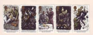 Great Britain  Sc 1515-9 1993 Sherlock Holmes stamps used