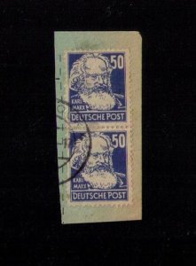 German Democratic Republic (DDR) Sc#10n41 Used Horz. Pair Very Fine