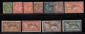 $Fr. Offices China Sc#34-44 used+M/VF, complete set, 38 43 used, Cv. $242.65