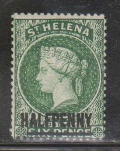 ST HELENA Scott # 34 MH - Queen Victoria With Surcharge