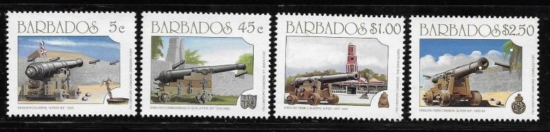 Barbados 1993 Cannon weapon gun Fort MNH A173