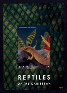 St. Kitts Sc# 864 MNH Reptiles of the Carribbean (S/S)