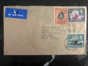 1952 Kenya Uganda Airmail Cover To The University Cape Town South Africa