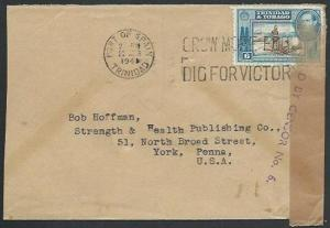 TRINIDAD 1941 cover to USA CENSOR NO.6.....................................62070
