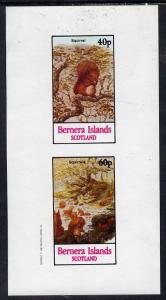Bernera 1982 Squirrels #1 imperf  set of 2 values (40p &a...
