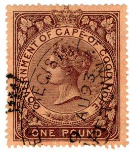 (I.B) Cape of Good Hope Revenue : Stamp Duty £1 (1878)