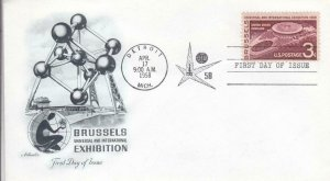 1958, Brussels Exhibition, Artmaster, FDC (D14296)