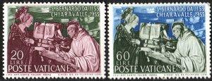 Vatican City SC#171-172: Apparition of the Virgin to St. Bernard (1954) MNH