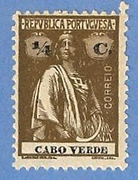Cape Verde 144 MH Pencil Mark - Ceres