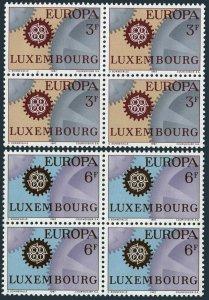 Luxembourg 449-450 blocks/4,MNH.Michel 748-749. EUROPE CEPT-1967,Cogwheels.