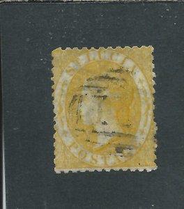 ST LUCIA 1864-76 (4d) YELLOW GU SG 12 CAT £50