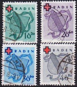 GERMANY Alliiert Franz. Zone [Baden] MiNr 0042-45 A ( O/used ) [01] geprüft