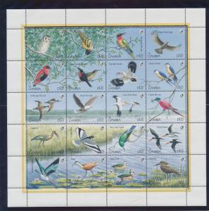 Gambia Stamp Scott #970, Mint Never Hinged, Full Sheet, Birds - Free U.S. Shi...