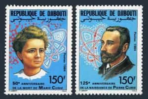 Djibouti 588-589,MNH.Michel 427-428. Marie and Pierre Curie,1984.