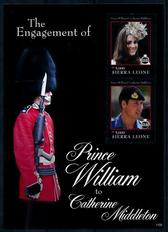 [76518] Sierra Leone 2011 Royal Engagement Prince William & Kate Sheet MNH