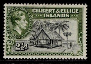 GILBERT AND ELLICE ISLANDS GVI SG47, 2½d brownish black & deep olive, M MINT.