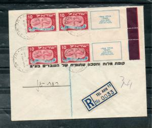 Israel Scott #12c 1948 Vertical Gutter Pair With Tabs on Bank Cover!!